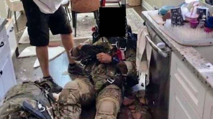 British Army Parachutist Crashes Into Roof Of California Home