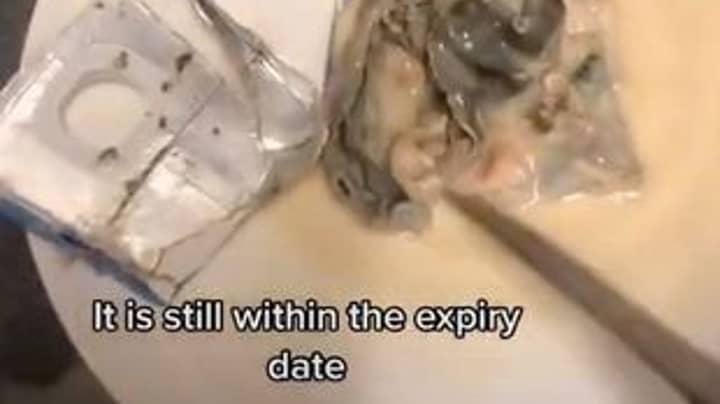 Woman Discovers 'Sea Creature' Mould Blob In Aldi Almond Milk