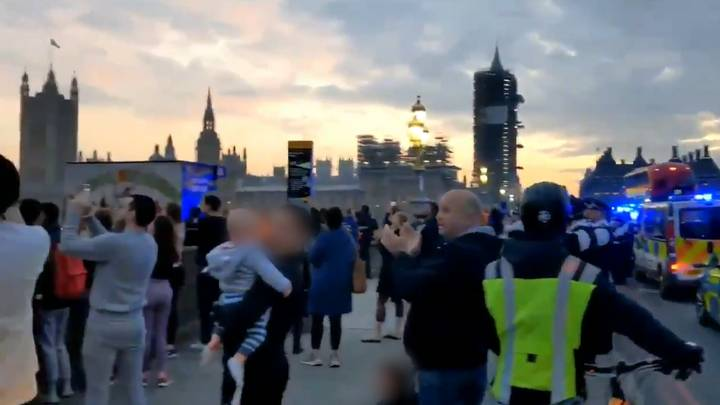 People Ignore Social Distancing Rule To Clap For Carers On Westminster Bridge