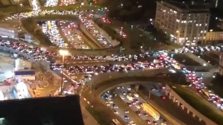 Record-Breaking 438-Mile Traffic Jam In Paris As People Flee Ahead Of Second Lockdown