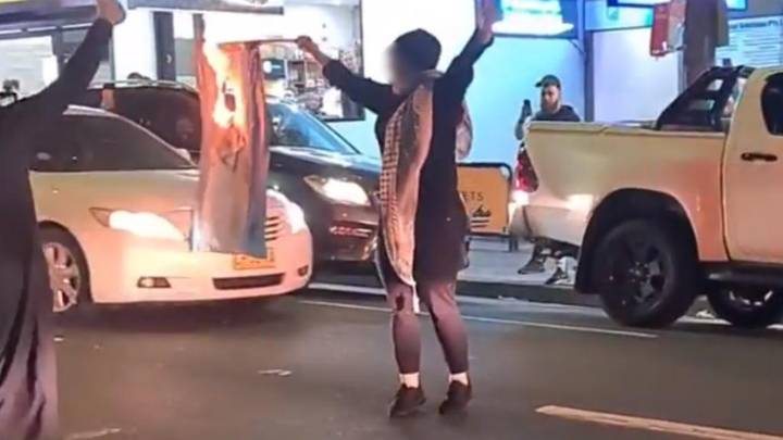 Woman Charged After Setting Fire To Israeli Flag During Sydney Protest
