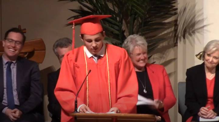 Kid From Viral 'Is This Real Life' Dentist Video Reuses Line In Graduation Speech