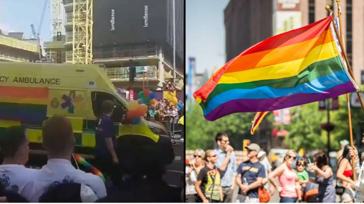 NHS Paramedics March With Joy During Manchester Pride