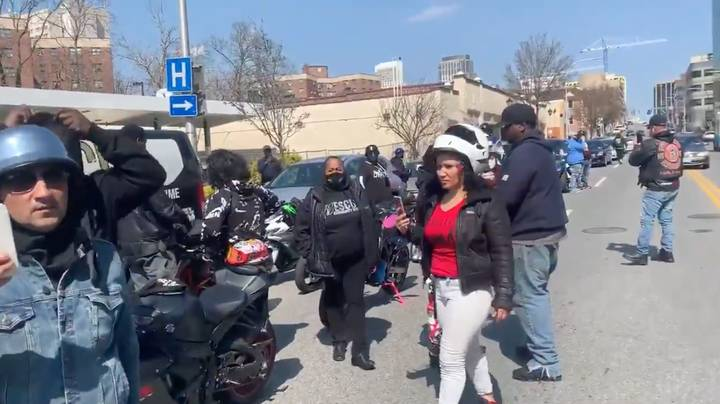 Ruff Ryders Biker Club Pay Tribute To DMX Outside Hospital