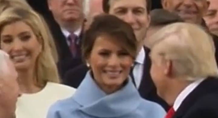Some People Think They've Figured Out Why Melania Trump's Face Dropped