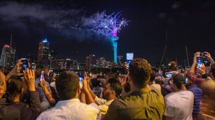 Thousands Pack Together For New Zealand Fireworks Following Successful Covid Policies