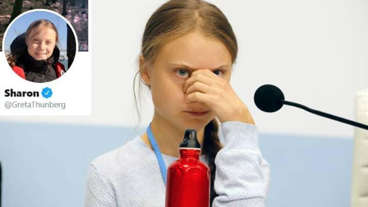 Greta Thunberg Changes Her Name To Sharon On Twitter After Amanda Henderson Mastermind Blunder