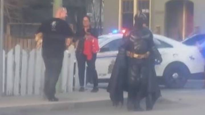 Man Dressed As Batman Is Turned Away By Police After Offering Help