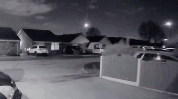 Doorbell Camera Captures Huge Meteor Soaring Through The Sky