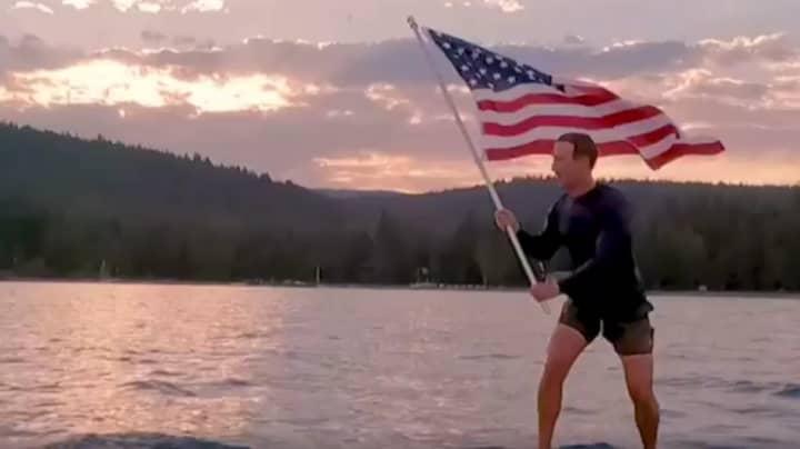 Mark Zuckerberg Flag Waving Surfing Video Sparks Memes