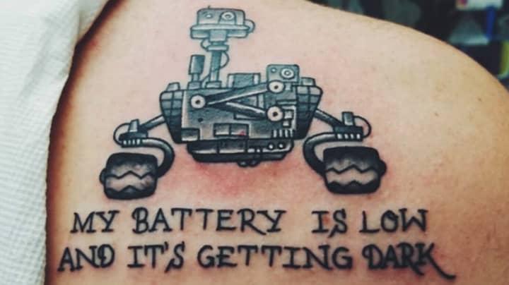 NASA Fan Mocked Over Glaring Error On Opportunity Mars Rover Tattoo