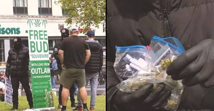 Masked Men Arrested After Giving Out '£800' Of Free Cannabis In Manchester City Centre