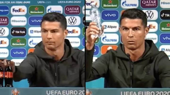 Cristiano Ronaldo Removes Coca-Cola From In Front Of Him During Euro 2020 Press Conference