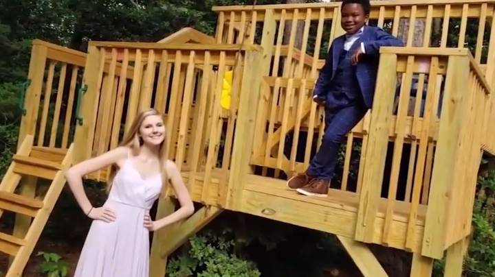 Boy Throws Socially Distanced Prom For His Nanny After Hers Was Cancelled