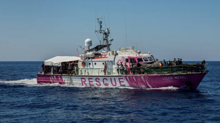 Banksy Has Funded A Rescue Ship To Help Refugees Crossing Seas