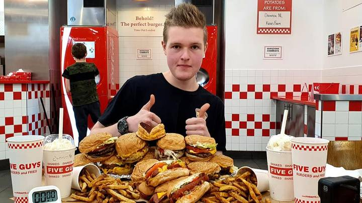 Man Eats Entire Five Guys Menu In An Hour