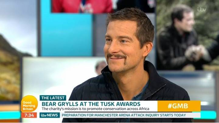 People Are Baffled By Bear Grylls' New Handlebar Moustache