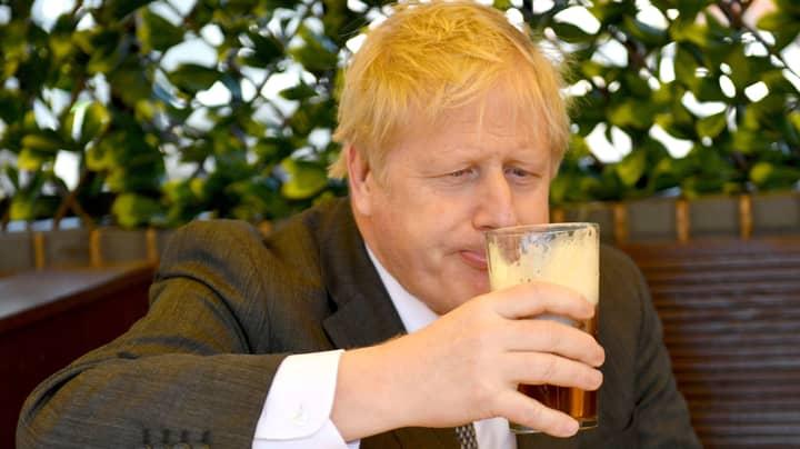 Boris Johnson Enjoys First Post-Lockdown Pint