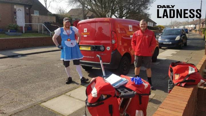 Postman Is Doing His Deliveries In Fancy Dress To Keep Spirits High