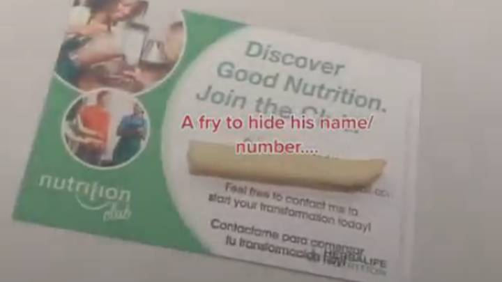 Delivery Driver Gives Customer Business Card About Losing Weight