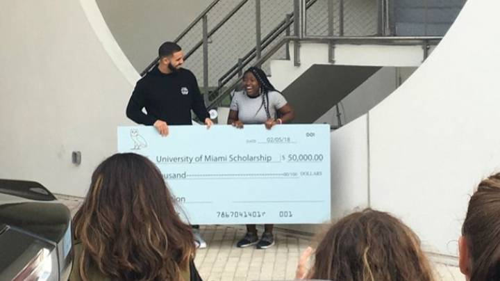 Student Who Received $50,000 Scholarship From Drake Graduates With Master's Degree