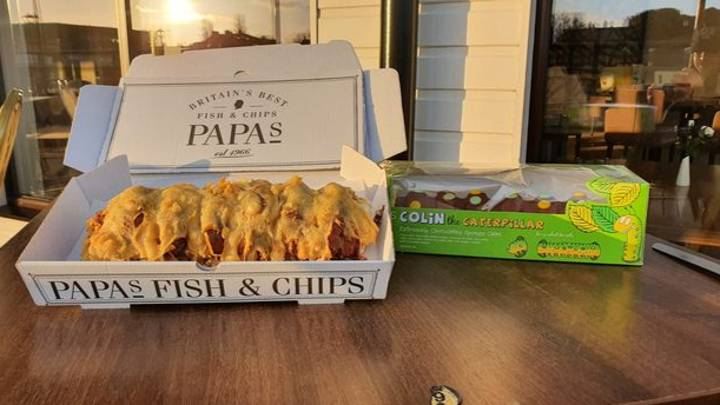 Chippy Is Selling Deep-Fried Colin The Caterpillar Cakes