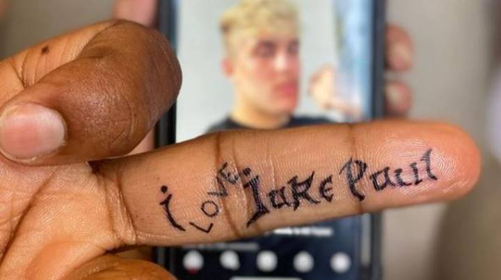 Tyron Woodley Shows Off His 'I Love Jake Paul' Tattoo
