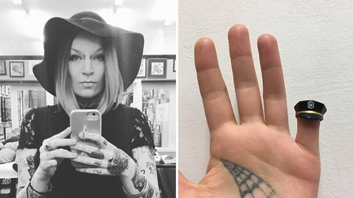 Woman Cut Her Finger Off With Bolt Cutters And Now Wears It Around Her Neck