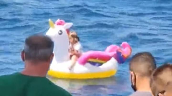 Rescue Mission To Save Girl Who Drifted Off To Sea On Inflatable Unicorn
