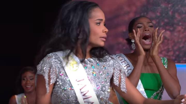 Internet Praises Miss Nigeria's Reaction To Miss Jamaica Winning Miss World 2019