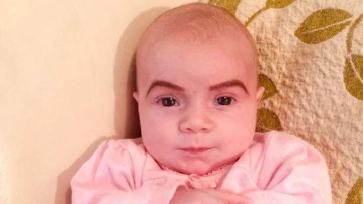 Mum Draws Eyebrows On Newborn Baby To 'Teach Her Not To Fall Asleep At Parties'