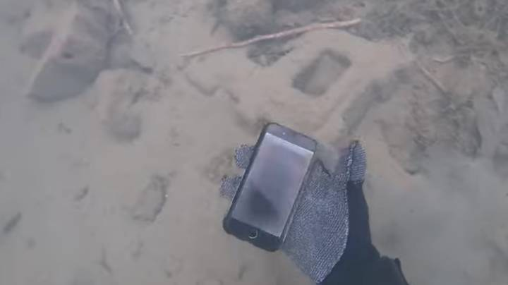 Diver Finds iPhone At Bottom Of Lake And Returns To Owner