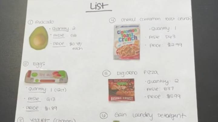 Wife Sends Husband To Supermarket With 'Ridiculously Detailed' Shopping List