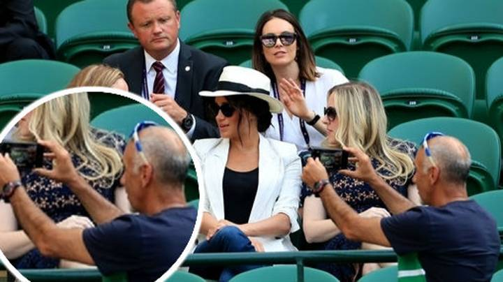 Wimbledon Fan Told Off For Meghan Markle 'Selfie' Didn't Know She Was There