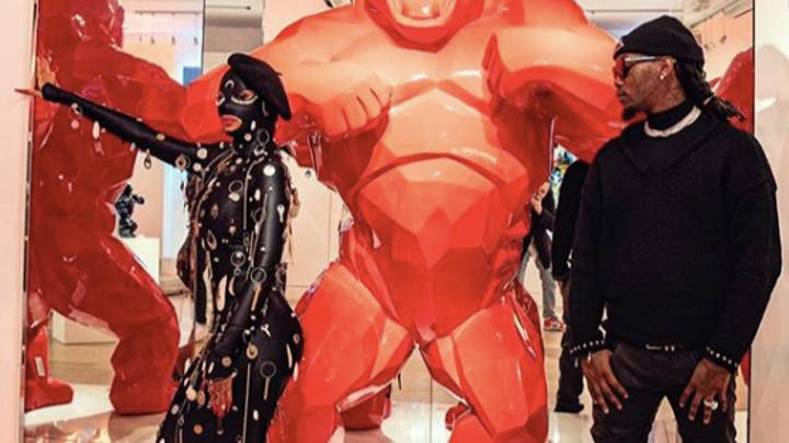 Cardi B Chooses Keys And Metal 'Gimp Suit' For Wild Paris Fashion Week Outfit