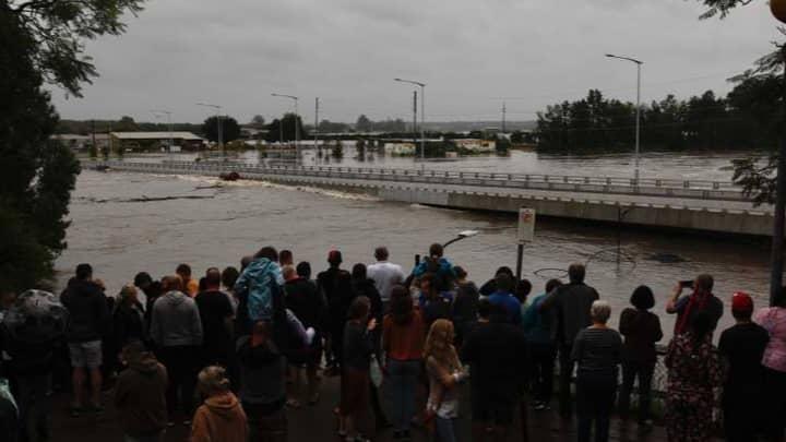 $100 Million 'Flood-Proof' Bridge Gets Flooded In Western Sydney