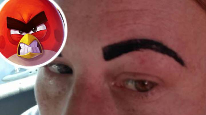 Mum Was Left Looking Like An 'Angry Bird' After Botched Eyebrows