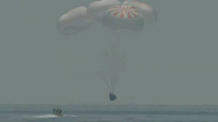 Two NASA Astronauts Successfully Brought Back To Earth On SpaceX's New Crew Dragon Spaceship