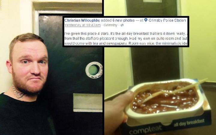 Arrested Guy Sneaks Phone Into Cell And Posts TripAdvisor-Style Review On Facebook