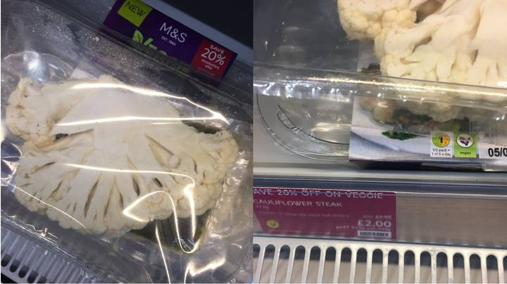 ​Marks And Spencer Is Selling Sliced Cauliflower As 'Cauliflower Steak' For £2