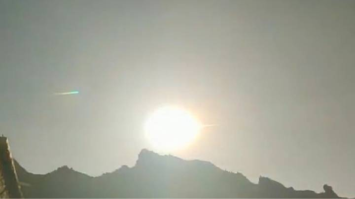 Footage Shows Huge Fireball Falling From Sky In China
