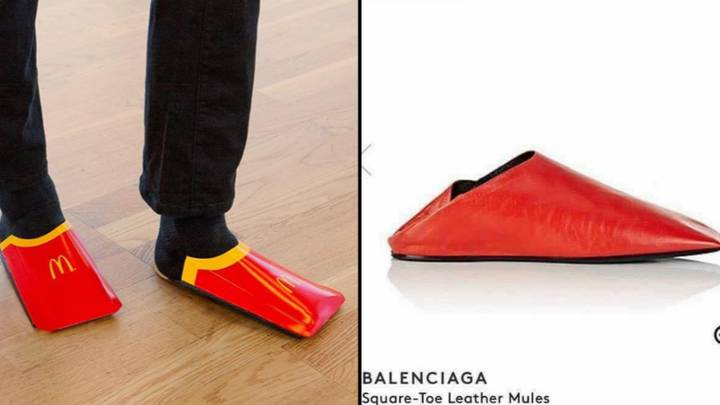 McDonald's Roasts Balenciaga With 'Shoes' Made From Fries Cartons