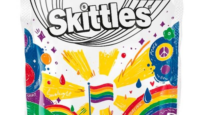 Skittles Ditch Rainbow Colours To Celebrate Pride Again