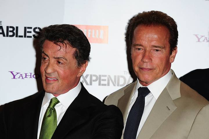 Sly Stallone And Arnold Schwarzenegger Hang Out On Christmas Day