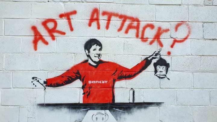 Man Discovers Banksy-Style Neil Buchanan Graffiti On His Garage