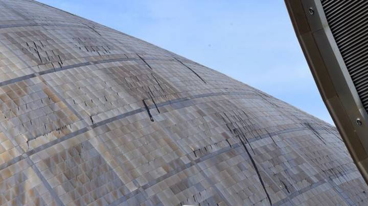 Roof Of Glasgow Science Centre Melts As Heatwave Continues