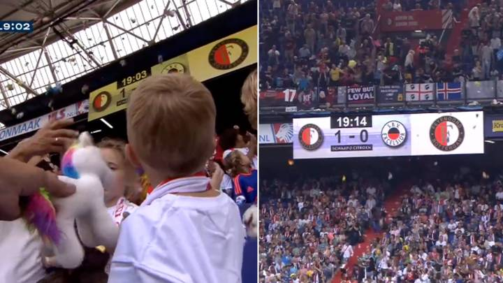 Football Fans Rain Cuddly Toys Down On Sick Kids During Match