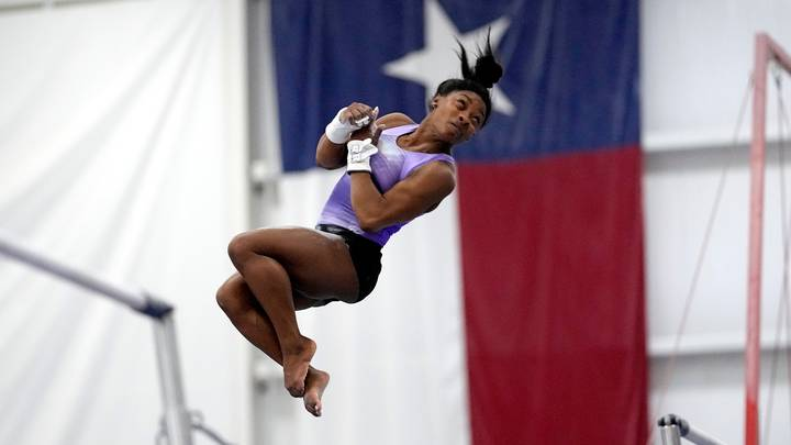Simone Biles Pulls Off Vault In Training Never Landed By Woman In Competition
