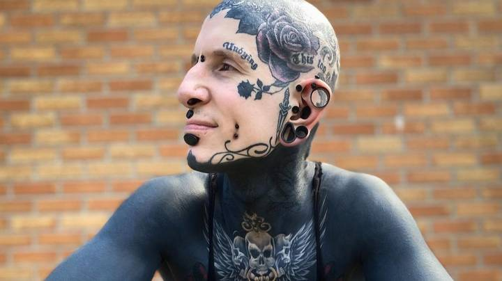 Man Who Has Tattooed Nearly The Whole Of His Body Shows What He Looked Like Before Inkings
