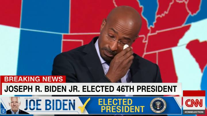 CNN's Van Jones Has Tearful Response To News Joe Biden Won The US Election